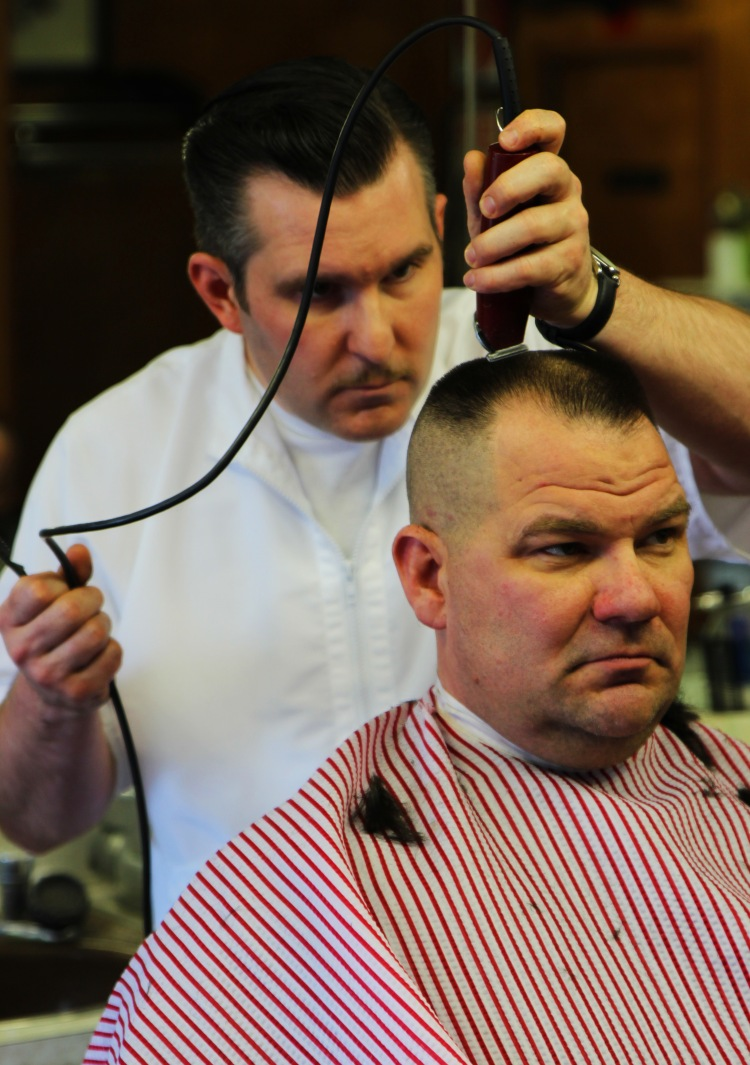 Barber Peter Klein and Mike