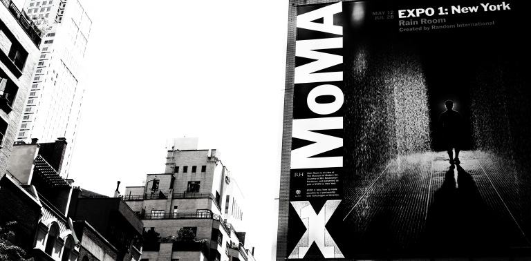 Rain Room billboard