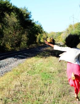 running for train