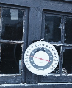 The garden shed thermometer