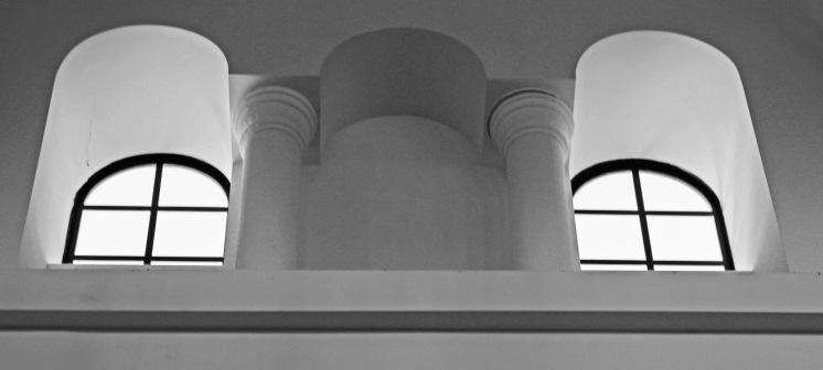 black and white windows