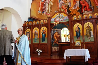 The alter and iconostasis