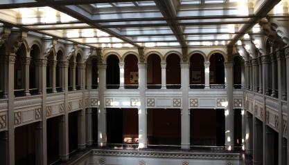 Landmark atrium color