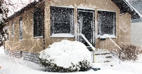 snowstorm in April house