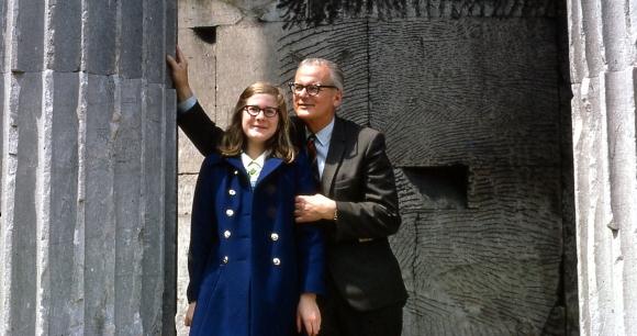 stina and dad Rome Temple of Vesta